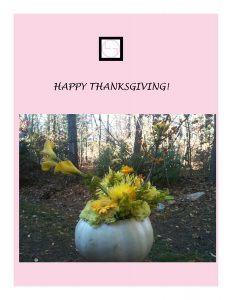 """Now You Know"" Recycle and Save for your Thanksgiving centerpiece!"